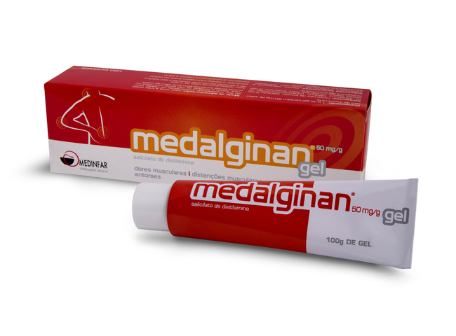 MEDALGINAN GEL 50MG/G 100G