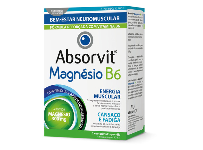 ABSORVIT MAGNESIO+B6 60 COMP