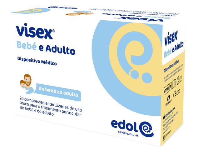 VISEX 20 COMPRESSAS BEBE E ADULTO