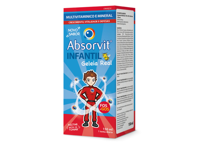 ABSORVIT INFANTIL GELEIA REAL XAR 150 ML