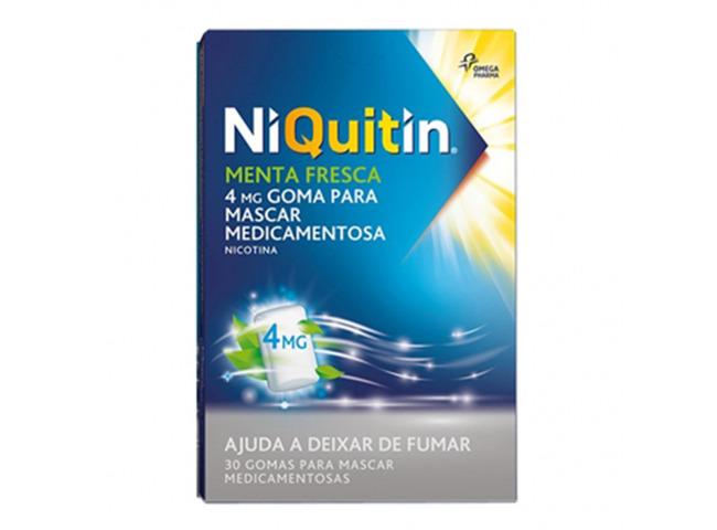 NIQUITIN MENTA FRESCA 4MG 30 GOMA MASC MED