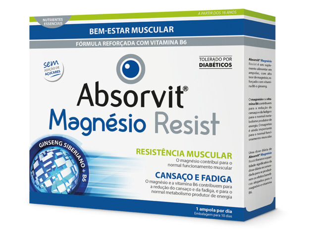 ABSORVIT MAGNESIO RESIST 10 AMPOLAS