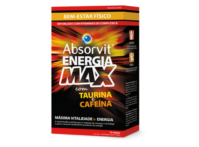 ABSORVIT ENERGIA MAX 10 STICKS