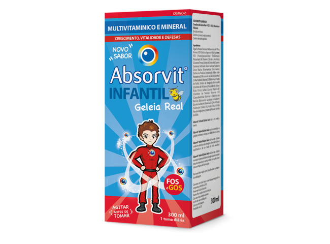 ABSORVIT INFANTIL GELEIA REAL XAROPE 300 ML