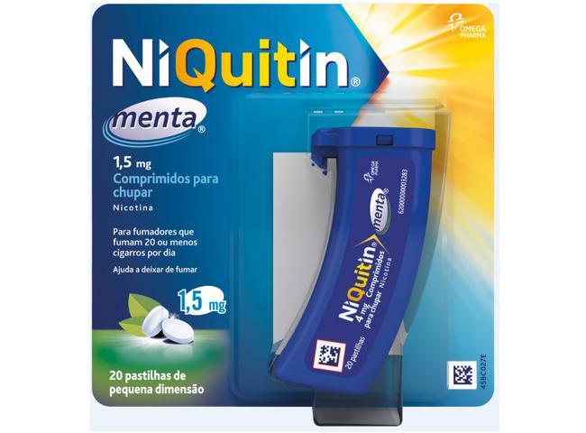 NIQUITIN MENTA 1,5 MG 20 COMP CHUP
