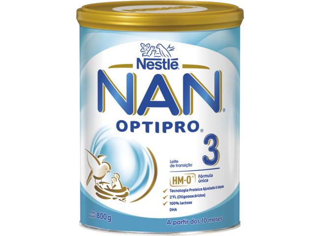 NAN OPTIPRO 3 LEITE 800G